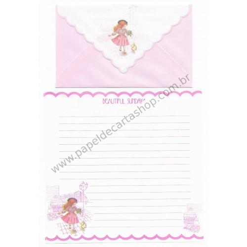 Conjunto de Papel de Carta Beautiful Sunday 01 CRS