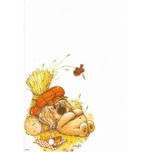 Papel de Carta Antigo Coleção Woofit Fofinhos 15