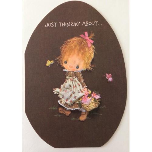 Ano 1980. Cartão ANTIGO IMPORTADO Betsey Clark Easter Hallmark