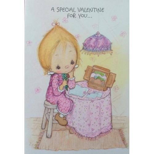 Ano 1985. Cartão ANTIGO com Envelope Betsey Clark Special Valentine