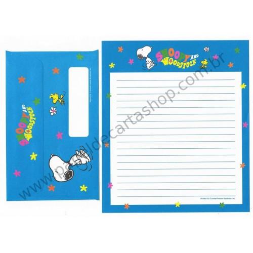 Conjunto de Papel de Carta Antigo (VIntage) Snoopy & Woodstock 70s CAZ 2F