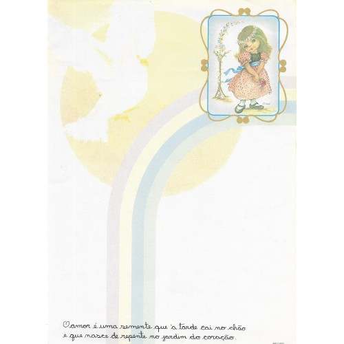 Papel de Carta Arco Iris 01