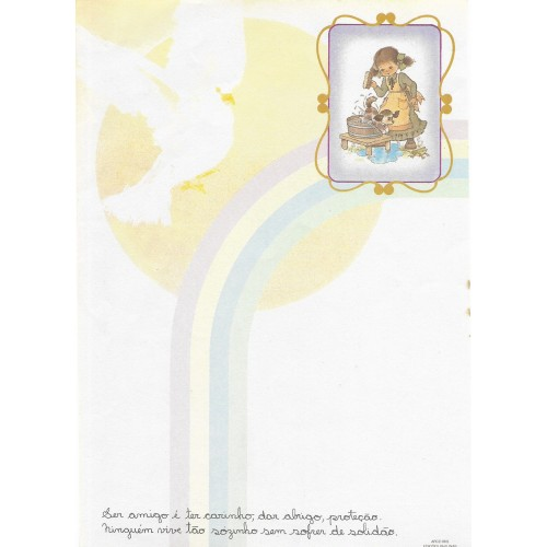Papel de Carta Arco Iris 02