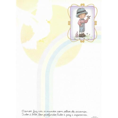 Papel de Carta Arco Iris 04