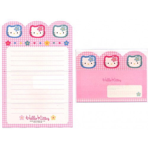Ano 1997. Conjunto de Papel de Carta Hello Kitty2 Antigo (Vintage) Sanrio