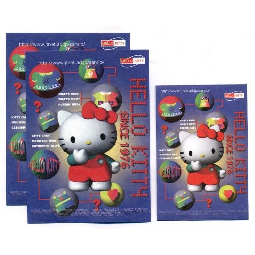 Ano 1997. Conjunto de Papel de Carta Hello Kitty JTNET Antigo (Vintage) Sanrio