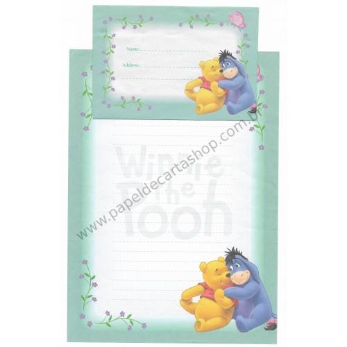 Conjunto de Papel de Carta Antigo VINTAGE Disney F1 - POOH (VD)