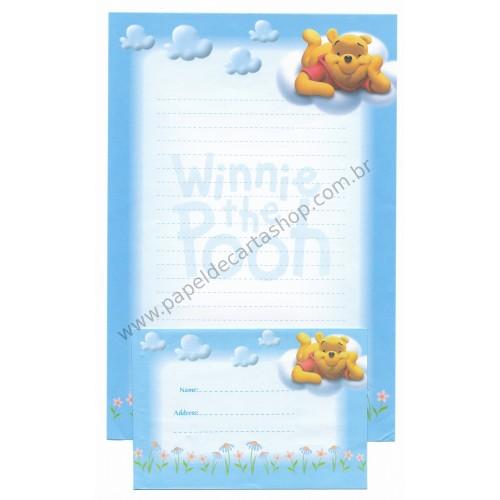Conjunto de Papel de Carta Antigo VINTAGE Disney F1 - POOH (TU)