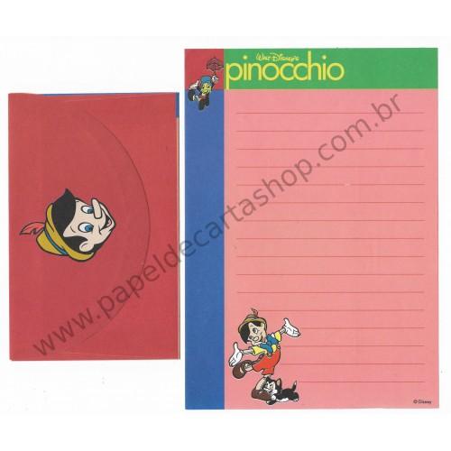 Conjunto de Papel de Carta ANTIGO VINTAGE Pinocchio