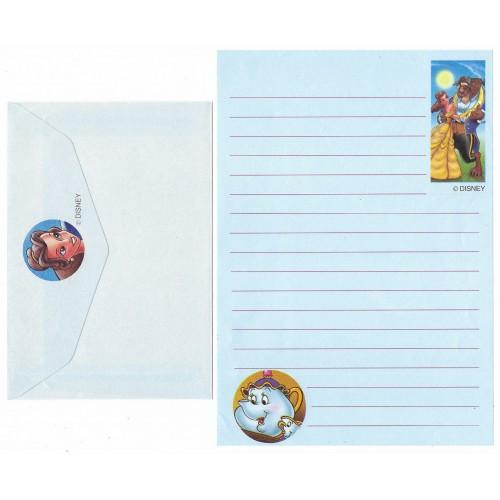 Conjunto de Papel de Carta ANTIGO Personagens Disney A Bela e a Fera CAZ