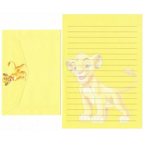 Conjunto de Papel de Carta ANTIGO Personagens Disney o Rei Leão CAM