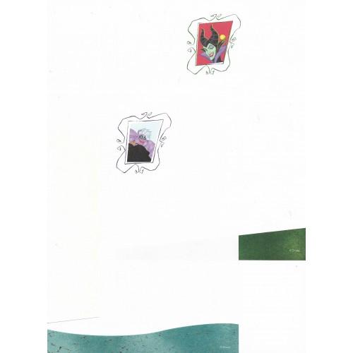 Kit 2 Conjuntos de Papel de Carta Importadas Disney Bruxas - Disney