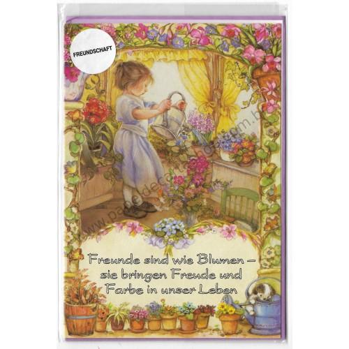 Notecard com Envelope Importado Lisi Martin - Freundschaft 03