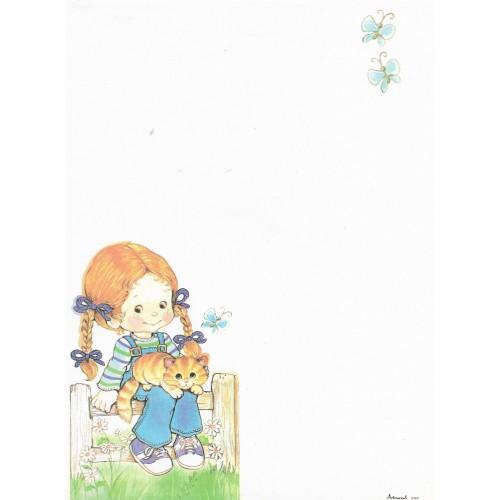 Papel de Carta Antigo Coleção Artesanal - 06568