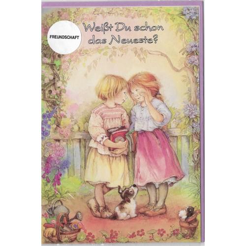 Notecard com Envelope Importado Lisi Martin - Freundschaft 09