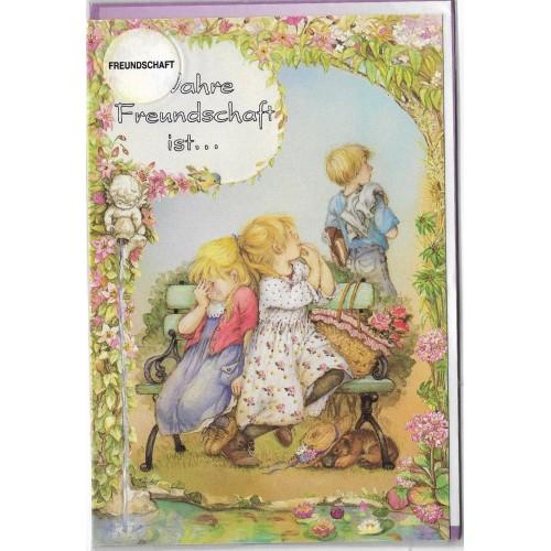 Notecard com Envelope Importado Lisi Martin - Freundschaft 10