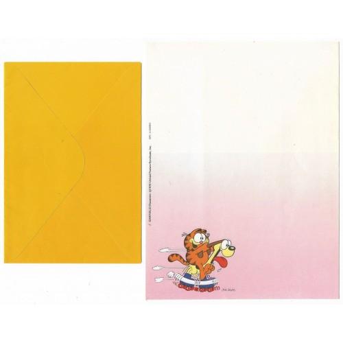 Anos 80. Conjunto de Papel de Carta Garfield N.50008-0