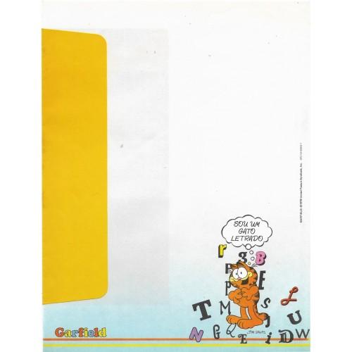 Anos 80. Conjunto de Papel de Carta Garfield N.50002-1