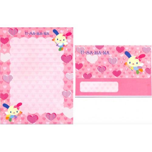Ano 2005. Conjunto de Papel de Carta U*sa*ha*na Heart - Sanrio