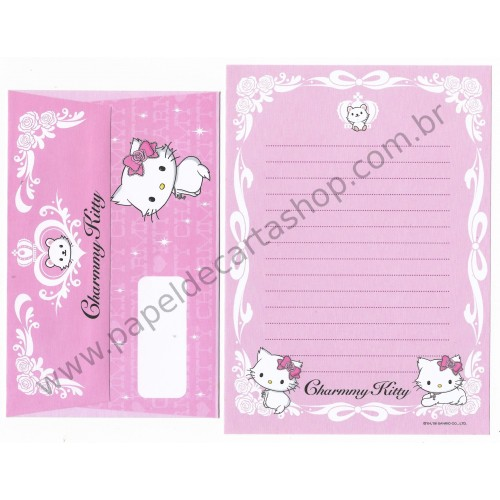 Ano 2006. Conjunto de Papel de Carta Charmmy Kitty CRB Sanrio