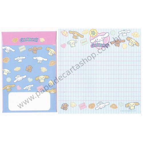 Ano 2010. Conjunto de Papel de Carta Cinnamoroll Shopping Sanrio