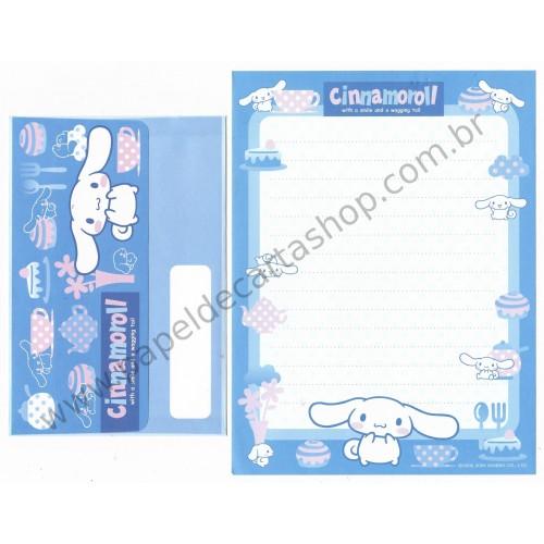 Ano 2005. Conjunto de Papel de Carta Cinnamoroll CAZ Sanrio