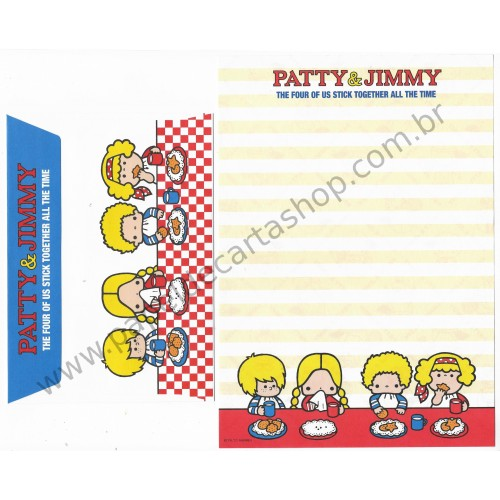 Ano 2011. Conjunto de Papel de Carta Patty & Jimmy FV7 Sanrio