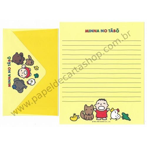 Ano 1995. Conjunto de Papel de Carta Minna no Tabo CAM Sanrio