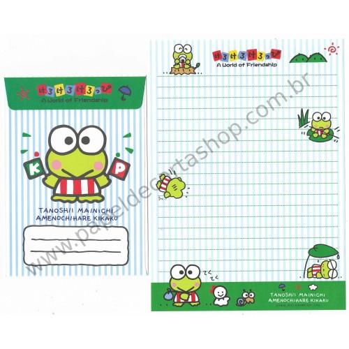Ano 2011. Conjunto de Papel de Carta Keroppi Friendship2 Sanrio