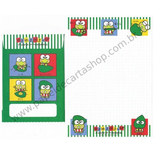 Ano 2011. Conjunto de Papel de Carta Keroppi Friendship3 Sanrio