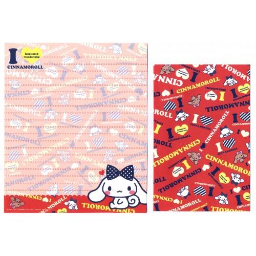 Ano 2011. Conjunto de Papel de Carta Cinnamoroll RED3 Sanrio