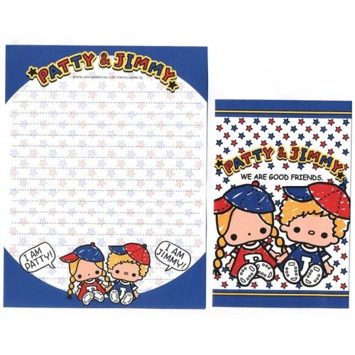 Ano 2011. Kit 4 Conjuntos de Papel de Carta Patty & Jimmy Good Friends 4AZ Sanrio