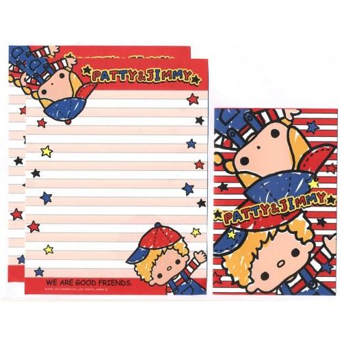 Ano 2011. Kit 4 Conjuntos de Papel de Carta Patty & Jimmy Good Friends 4VM Sanrio