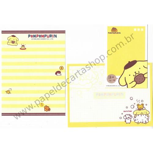 Ano 2003. Conjunto de Papel de Carta PomPomPurin DUPLA Sanrio