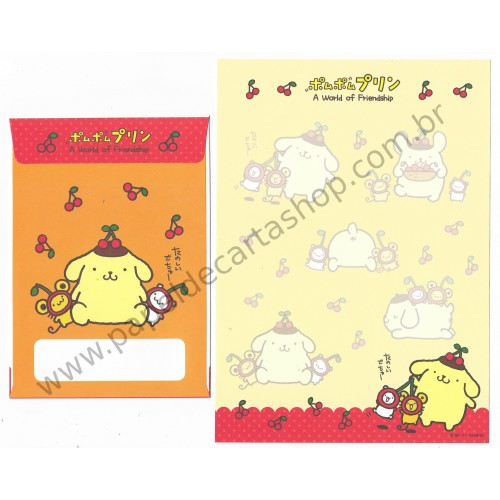 Ano 2011. Conjunto de Papel de Carta Pompompurin Friendship1 Sanrio