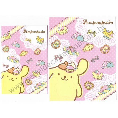 Ano 2014. Conjunto de Papel de Carta Pompompurin CRS Sanrio