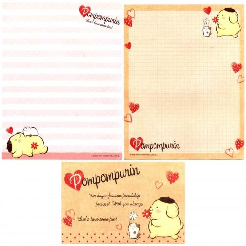 Ano 2015. Conjunto de Papel de Carta PomPomPurin Fun Sanrio