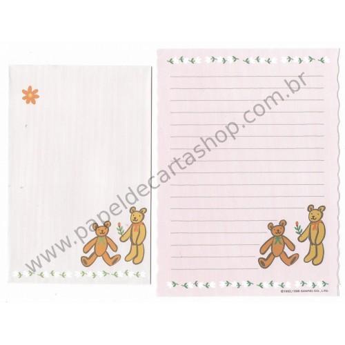 Ano 1996. Conjunto de Papel de Carta Honeyfield CRS Sanrio