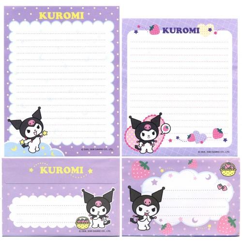 Ano 2009. Conjunto de Papel de Carta Kuromi DUO2 Sanrio