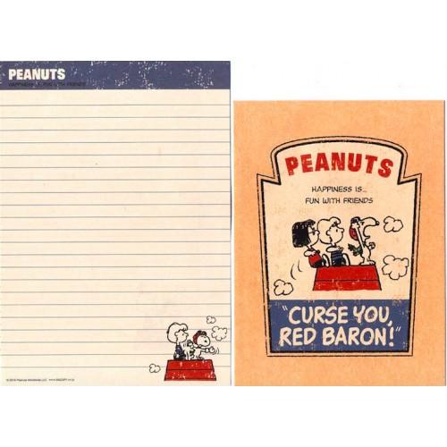 Conjunto de Papel de Carta Red Baron - Peanuts Japão 2015