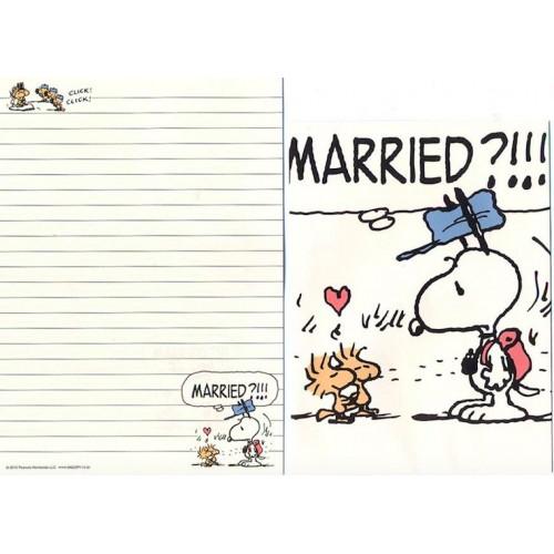 Conjunto de Papel de Carta Married? - Peanuts Japão 2015