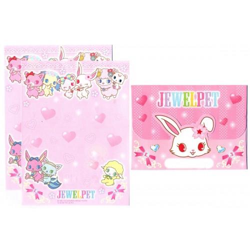 Ano 2013. Conjunto de Mini-Papel de Carta JEWELPET3 - Sanrio