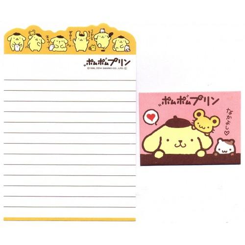 Ano 2014. Conjunto de Mini-Papel de Carta PomPomPurin DUPLA1 - Sanrio