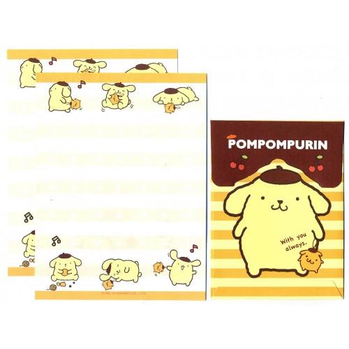 Ano 2014. Conjunto de Mini-Papel de Carta PomPomPurin CAM - Sanrio
