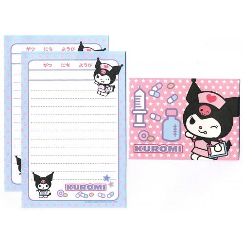 Ano 2008. Conjunto de Mini-Papel de Carta Kuromi CAZ Sanrio