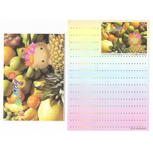Ano 2002. Conjunto de MINI-Papel de Carta Hello Kitty Hawaii2 Sanrio