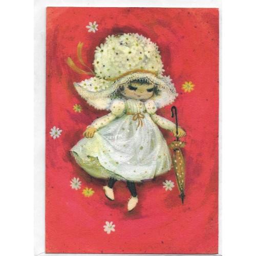 Notecard Antigo Importado Mary Hamilton 06 - Hallmark