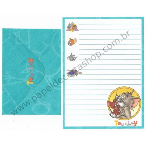 Ano 1992. Conjunto de Papel de Carta Importado Tom & Jerry CAZ