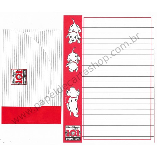 Conjunto de Papel de Carta ANTIGO Disney 101 Dalmatians II