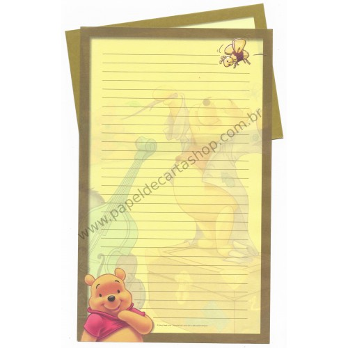 Conjunto de Papel de Carta Disney Pooh Bee Friend Forever!